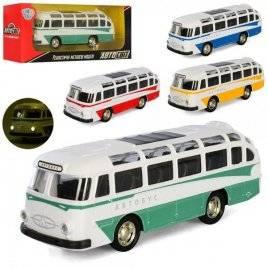 Автобус металлический инерционный со звуком и светом AS-2924 АвтоМир