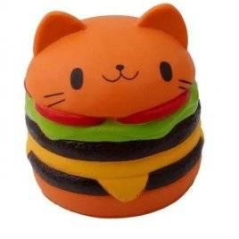 Сквиши игрушка-антистресс  Бургер-котик 2961/2580