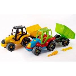 Конструктор Собирайка Трактор с прицепом 30.0007 Toys Plast, Украина
