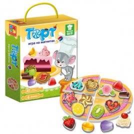 """Игра на магнитах """"Вкусные тортики с мышонком"""" Vladi Toys 3004-01"""