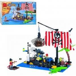 Конструктор Пираты и остров сокровищ 302 Brick