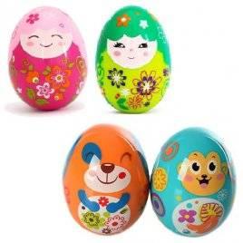 Детская погремушка Яйцо 2 штуки 3102C на листе