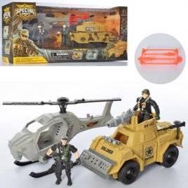 Набор спасателей военный вертолет + транспорт и 2 фигурки D3109-17-18
