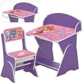 """Парта регулируемая со стулом для детей """"Щенячий патруль. Скай"""" ML-315-09-02"""