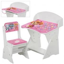 """Парта регулируемая со стулом для детей """"Щенячий патруль. Скай"""" ML-315-09-1"""