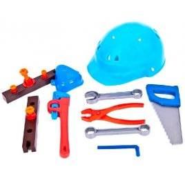 Набор инструментов Юный плотник 17 предметов с каской 32-003 KinderWay
