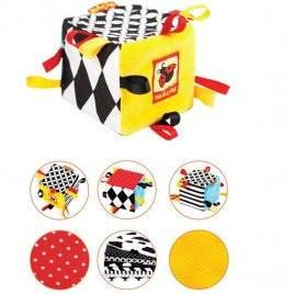 Погремушка-кубик мягкая B&W Macik МК 3200-01