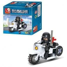 Конструктор Полицейский мотоцикл и водитель 0325 Sluban