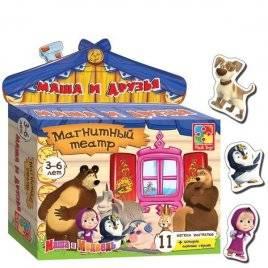 Магнитный театр с Машей - 10 магнитов + сказка для игры 3206 Vladi Toys, Украина