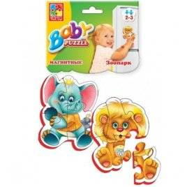 Беби пазлы  на магните «Зоопарк» Baby Puzzle VT3208-01