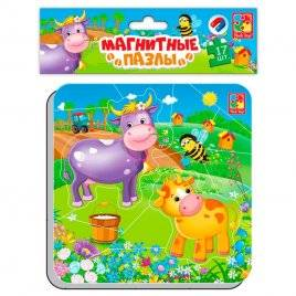 Магнитные пазлы Корова и теленок 3204-13 Vladi-Toys