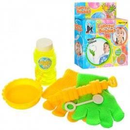 Мыльные пузыри игра с дудкой запаской+перчатки 328