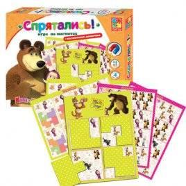 "Игра на магнитах  ""Маша и медведь. Спрятались!"" VT3304-09  Vladi Toys, Украина"