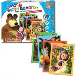 """Игра на магнитах  """"Маша и медведь. Найди часть целого"""" VT3304-10 Vladi Toys"""