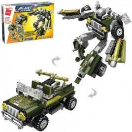Конструктор трансформер робот+ военная машина 302 детали 3307 Qman