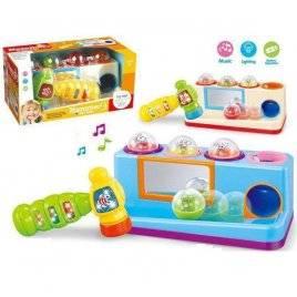 Игрушка ксилофон-стучалка музыкальная пластиковая 332