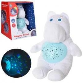 Ночник проектор звездного неба Белый бегемот JLD333-41A