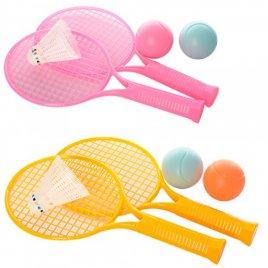 Ракетка детская малая + мячики и воланчик 3397