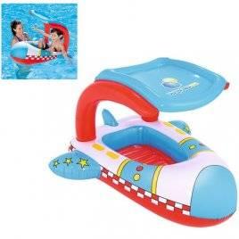 Детский надувной плотик Самолет с навесом 34100
