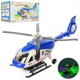 Вертолет полицейский со звуком и светом ездит 3488B