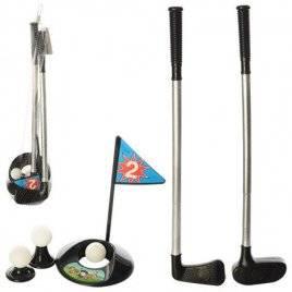 Гольф клюшки и мячи 2 штуки + лунка M 3501