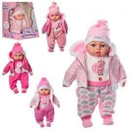 Кукла  в зимней одежде в куртке поет песню и рассказывает стих 3514 на украинском языке