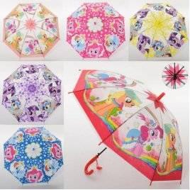 Зонтик детский для девочек пони MK 3630-1