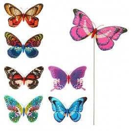 Ветрячок-декор бабочка на палочке M 3722