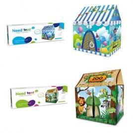 Палатка для детей с крышей Зоопарк и Цирк 3755-1