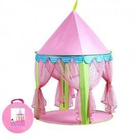 Палатка Розовый шатер на колышках стенки-сетка на завязках M 3761