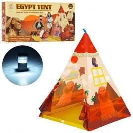 Палатка игровая Вигвам Египетская пирамида с фонариком 3770