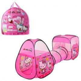 Палатка детская с тоннелем Hello Kitty домик-куб M 3775