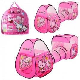 Палатка Hello Kitty с тоннелем домик-куб M 3775
