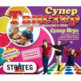 """Напольная развлекательная игра твистер большой """"Супер твистер"""" 379"""