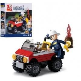 Конструктор пожарный джип+ фигурка 58деталей M38-B0621SLUBAN