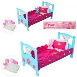 Кроватка для кукол с аксессуарами 3836-07