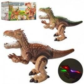 Динозавр со звуком и светом ходит подвижные детали 3837