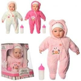 Кукла в зимней одежде комбинезоне музыкальный 3858