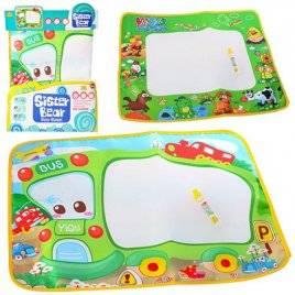 Акваковрик для рисования водой животные или паровозик YQ3901-1-3905
