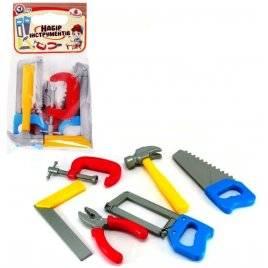 Инструменты детские пластмассовые в кульке 6 штук 4005 Технок