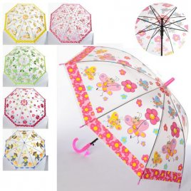 Зонтик детский длина 67 см диаметр 84 со свистком 4056