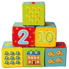 Кубики мягкие Малыш Цифры 1401 Vladi Toys