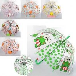 Зонт прозрачный детский Мордочки MK 4115