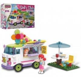 Конструктор для девочек Автокафе с мороженным 319 деталей KB 128 LimoToy