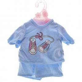 Одежда для кукол  Футболка и шорты голубые DBJ-434A-B-J001
