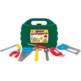 Набор инструментов в чемодане зеленый 4371 Технок