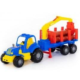 Трактор с полуприцепом-лесовозом 44815 Полесье Беларусь