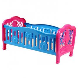 Кроватка для куклы пластмассовая на ножках 4517 ТехноК