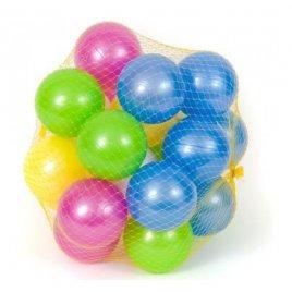 Шарики перламутровые в сетке пластиковые для сухого бассейна 32 штуки 467 в.3 Орион