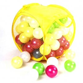 Шарики для сухого бассейна перламутровые 80 штук в сумке на змейке 467 в.6 Орион